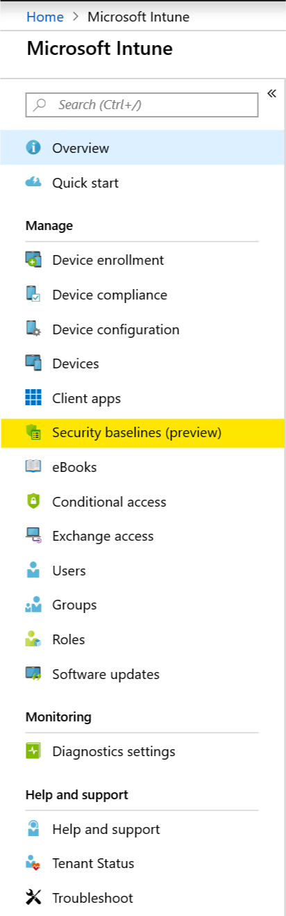 Intune - Security baselines (Preview) - Enterprise Mobility ramblings